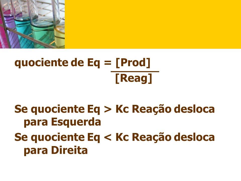 quociente de Eq = [Prod]